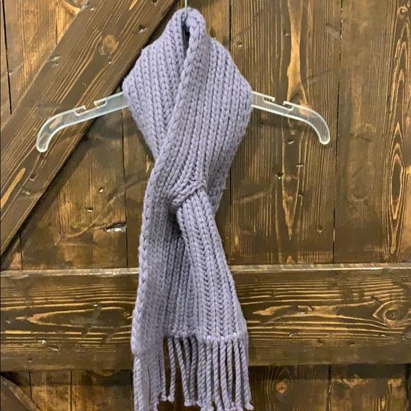 Cashmere hand knit purple scarf